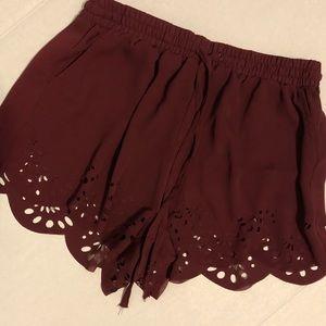 Brandy Melville scalloped shorts